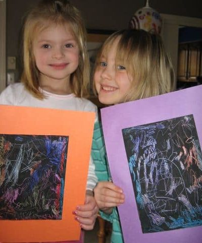 how to make scratch art paper