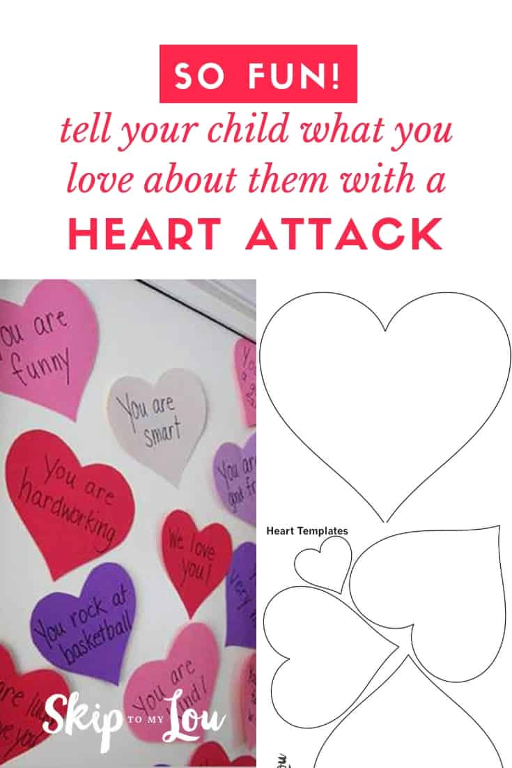 valentine heart attack idea with free printable heart template. Black Bedroom Furniture Sets. Home Design Ideas