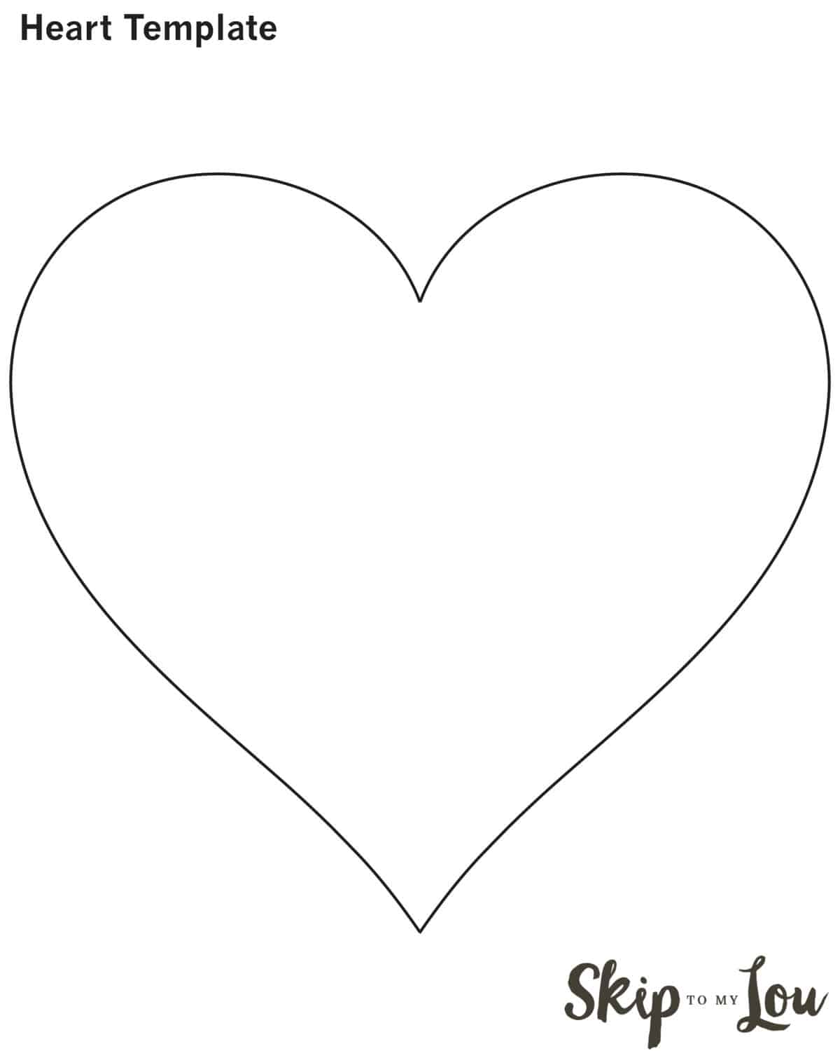 printable heart template - Valentine Templates Printable