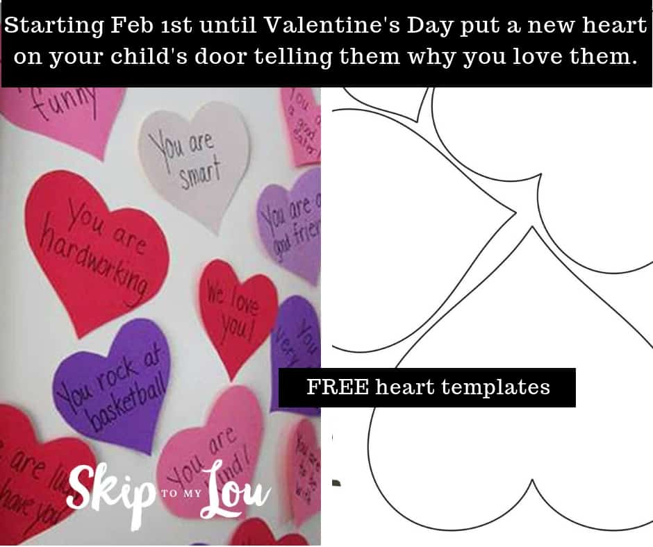 valentine heart attack idea with free printable heart template