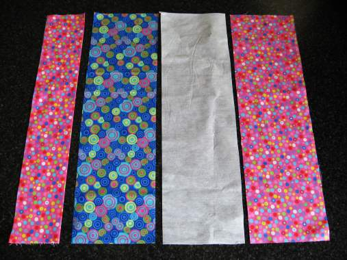 four fabric pieces
