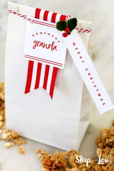 homemade granola packaging