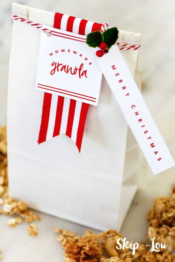 homemade granola packaging