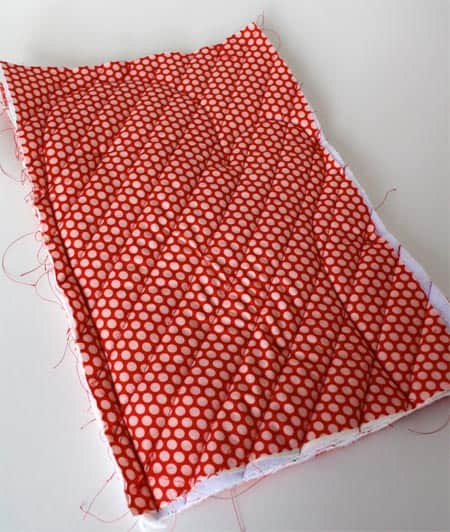 quilted oven mitt sewn