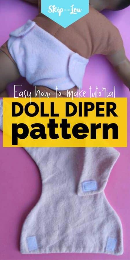 doll diper pattern PIN