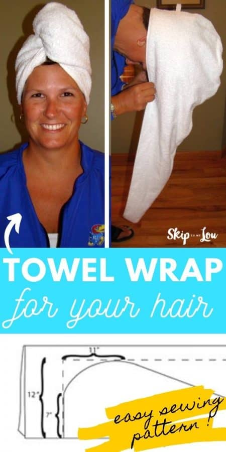 towel wrap sewing pattern PIN