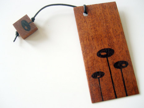 wood bookmark