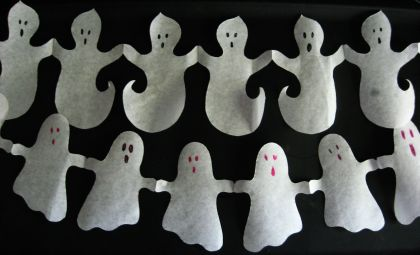 halloween craft paper ghost garlands alpha mom