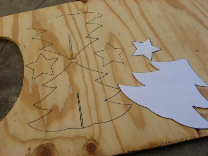 Santa Pattern Cut Out Helping Santa Wood Pattern
