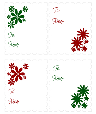 image relating to Free Printable Gift Tags known as Cost-free Xmas Present Tags and Labels Miss out on Toward My Lou
