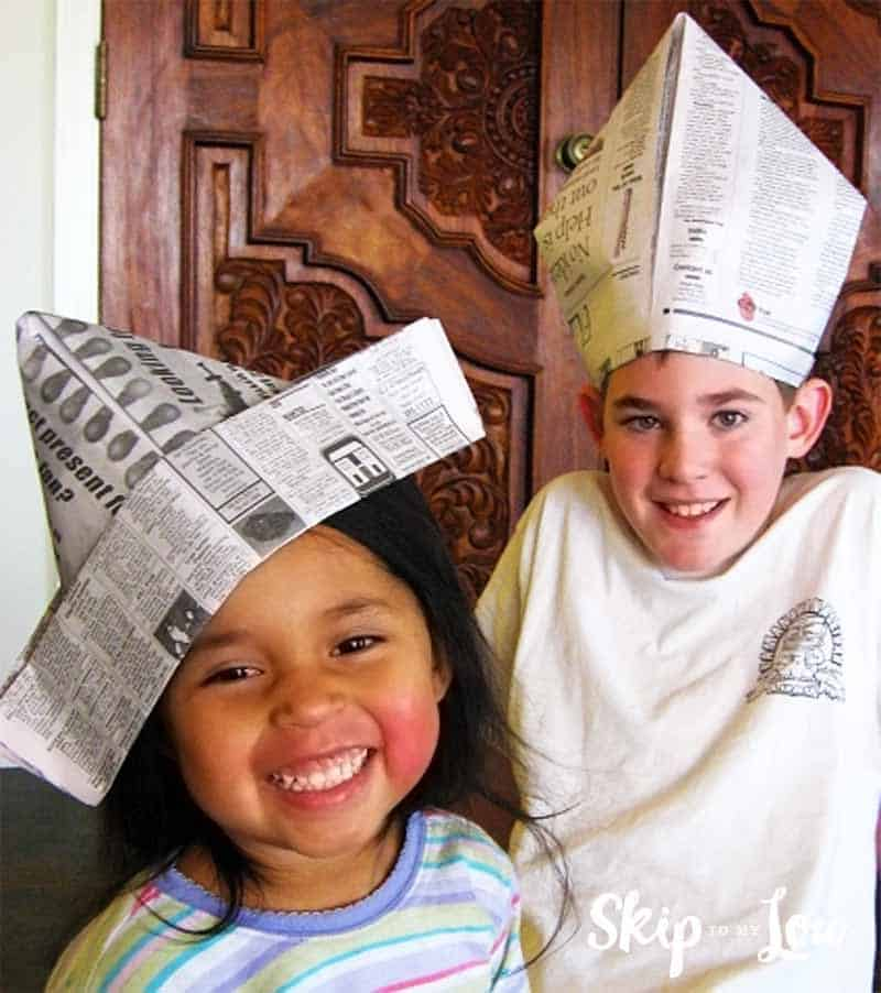 Paper Hat | Paper hat, Newspaper hat, How to make paper | 902x800