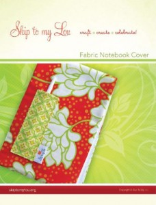 Obtain fabric notebook cover in Skip to my Lou's shop