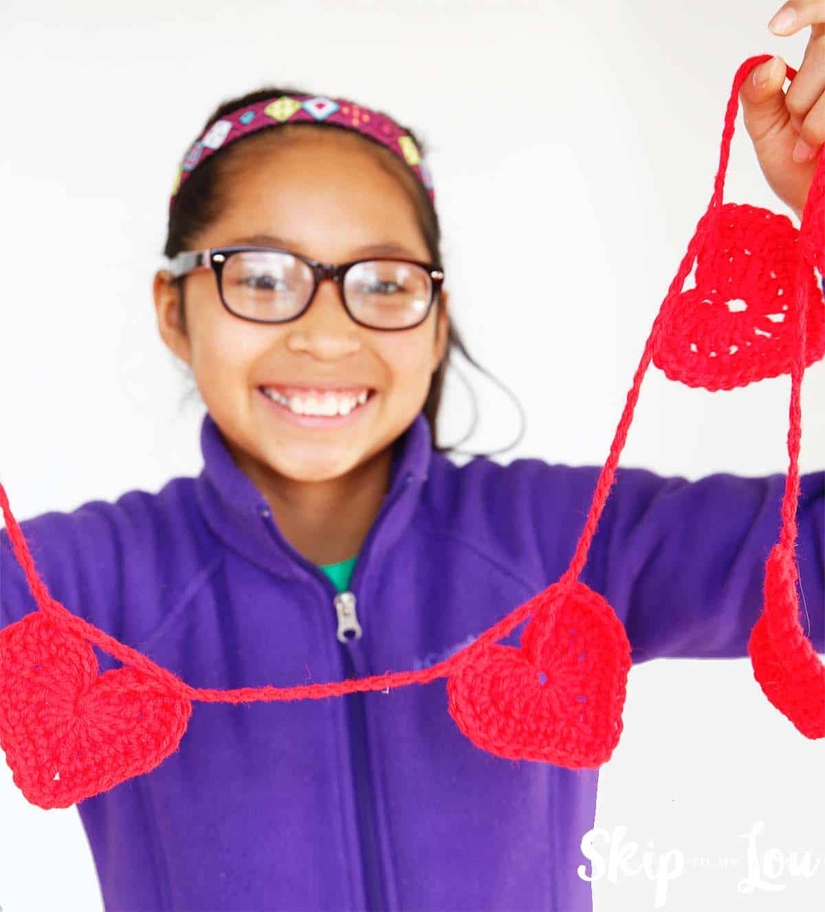 easy crochet heart garland