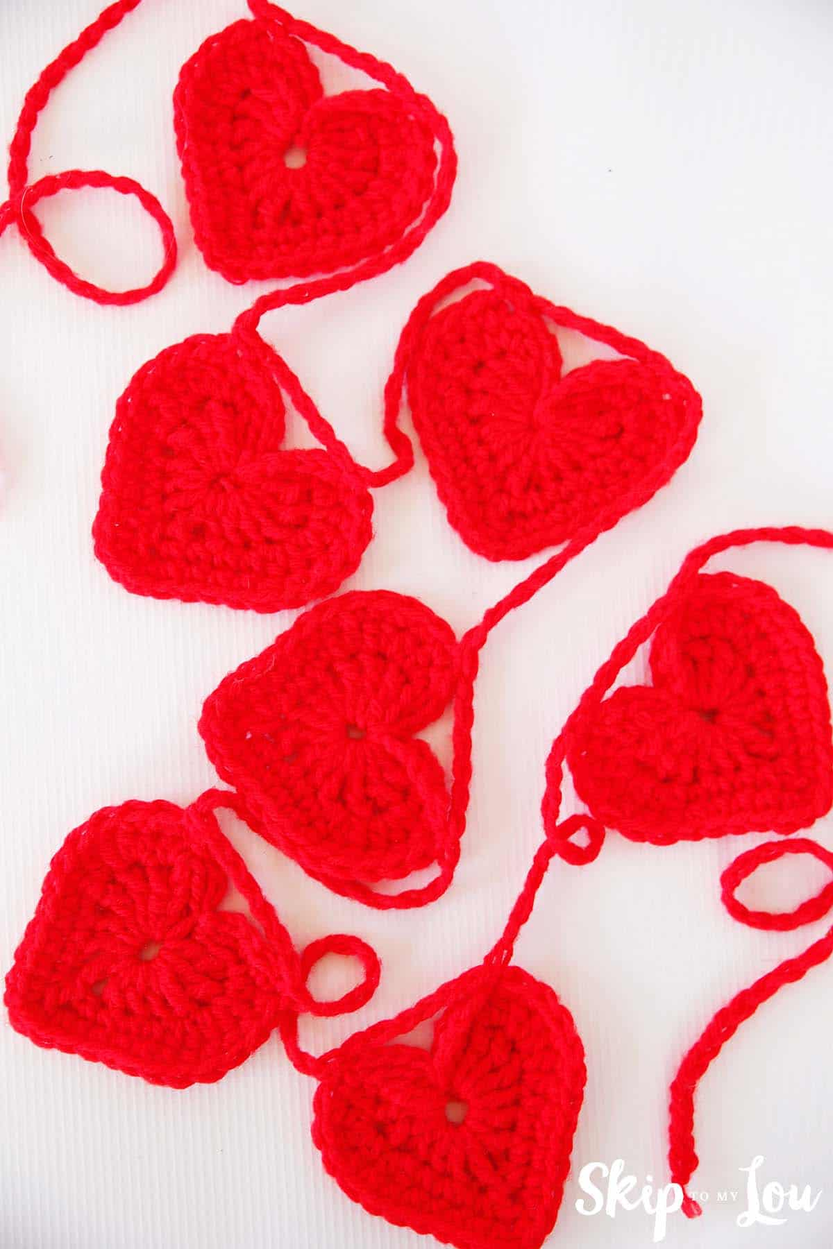 Easy crochet heart garland pattern skip to my lou easy crochet heart garland bankloansurffo Images