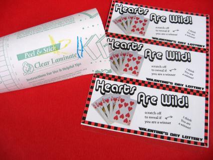 Diy Scratch Off Lottery Ticket Valentines Skip To My Lou