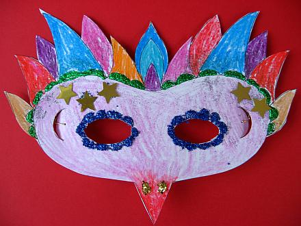 Mardi Gras Mask Craft & Free Printable