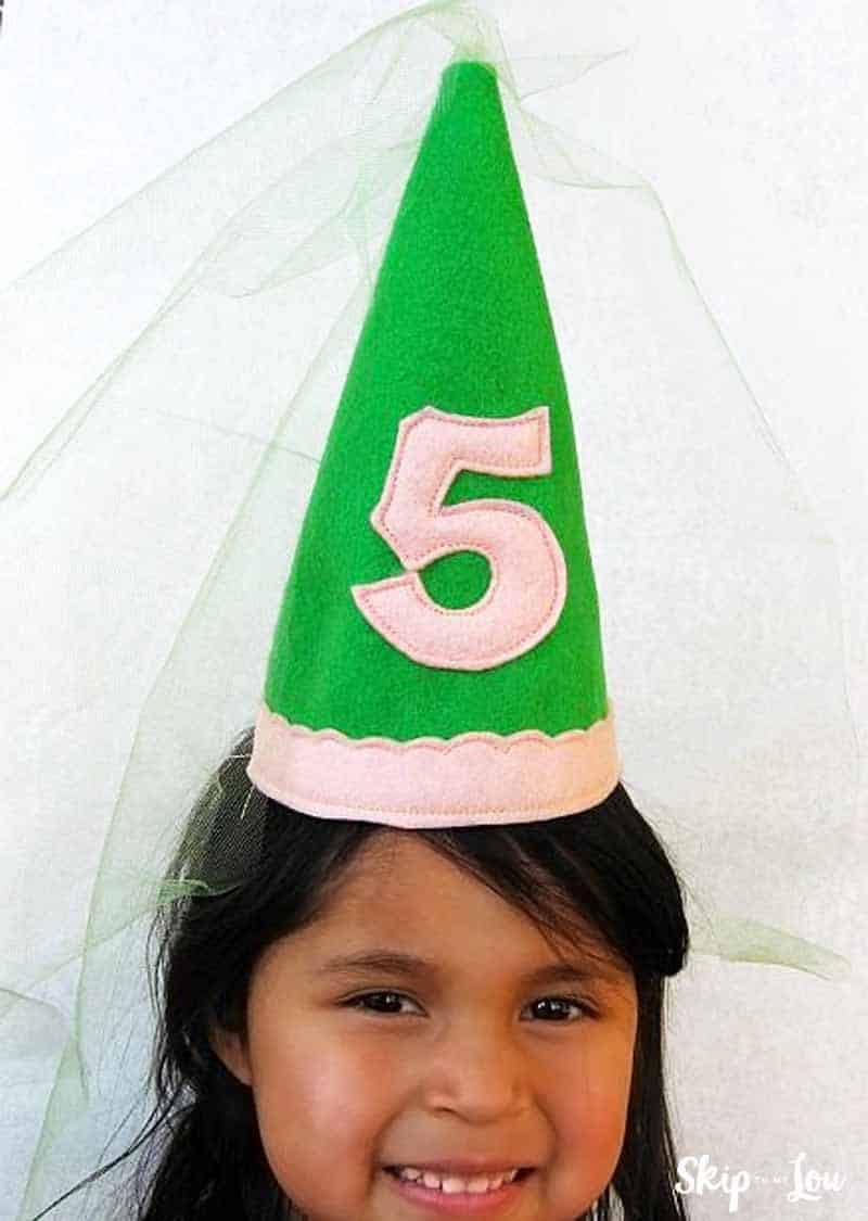 princess cone hat template - easy and cute diy princess birthday hat skip to my lou