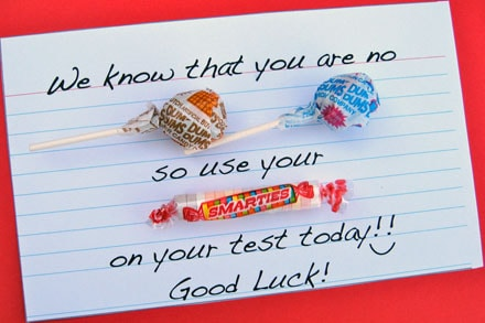 Candy-gram encouragement for kids taking tests   Skip To ...
