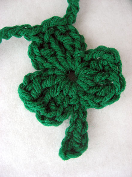 One Piece Crochet Shamrock - Free Pattern