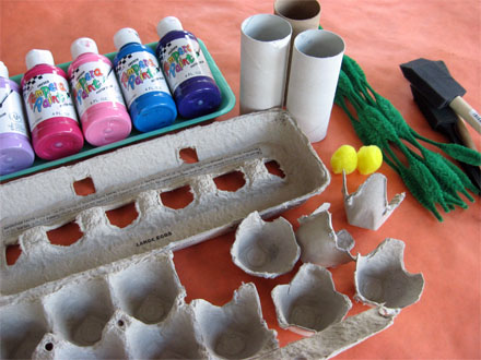 Craft Ideas  Cartons on Welcoming Spring With Egg Carton Flowers    Skip To My Lou