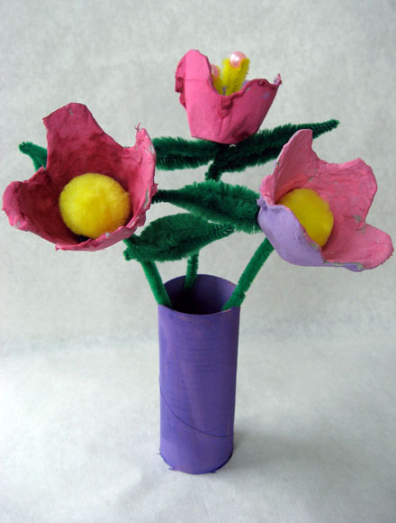 Welcoming spring with egg carton flowers skip to my lou Egg carton flowers ideas
