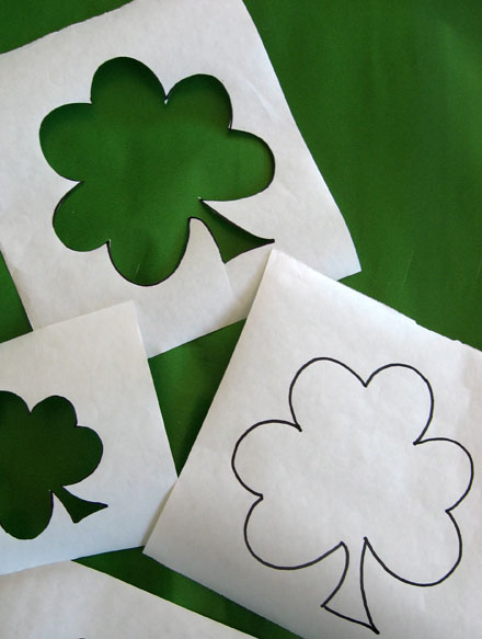 paper shamrock cut-outs