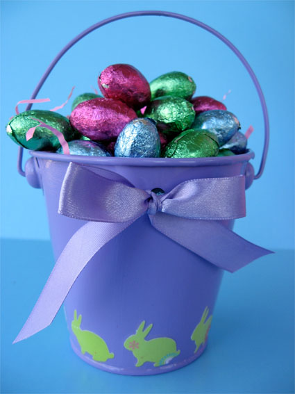 Decoupaged Easter Pails