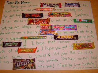 Teacher Appreciation Candy Bar Sayings