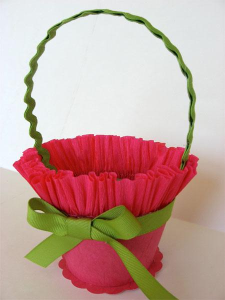 Корзины цветов из бумаги своими руками