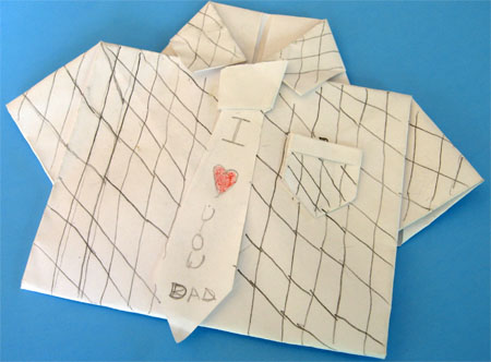 Father's Day Craft: Origami Card