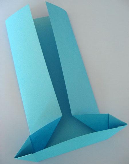 folded origami card