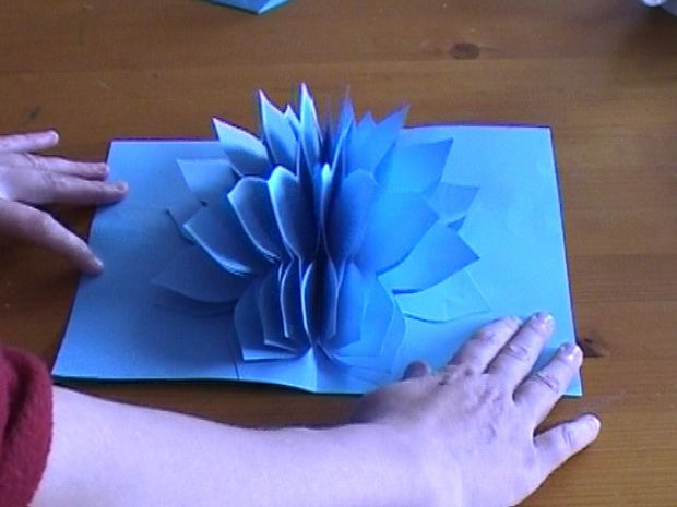 pop up paper flower
