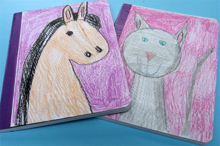 These notebooks make great gifts or super cool journals to keep kids writing