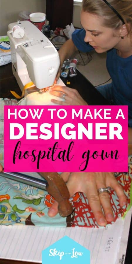 diy hospital gown PIN