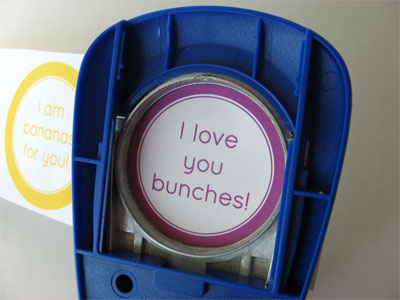 I love you bunches printable being cut out using a hole punch