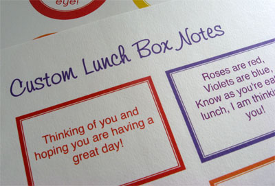 custom lunch box notes printable