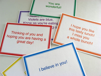 assorted custom lunchbox notes printables