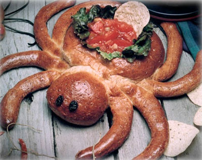 Spider Dip Bowl made from Rhodes Rolls