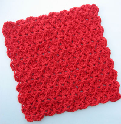Quick Easy Crochet Dishcloth Pattern Free Skip To My Lou