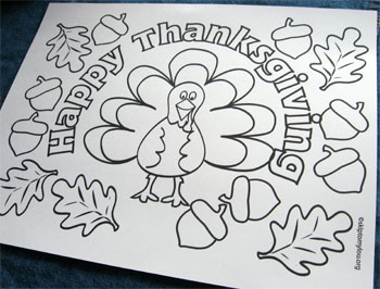 Coloring Pages For Toddlers For Thanksgiving Coloring Pages