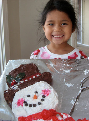 Breakfast With Santa Snowman cake 2