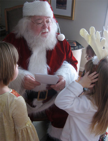 Breakfast with Santa 2009 lists