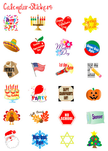 Decorate your Calendar with Event Stickers