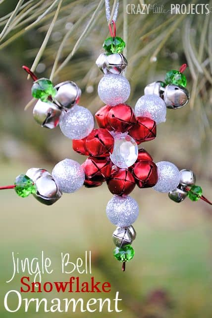jingle bell snowflake ornament