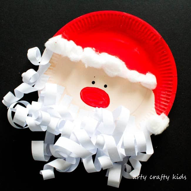 santa curly beard