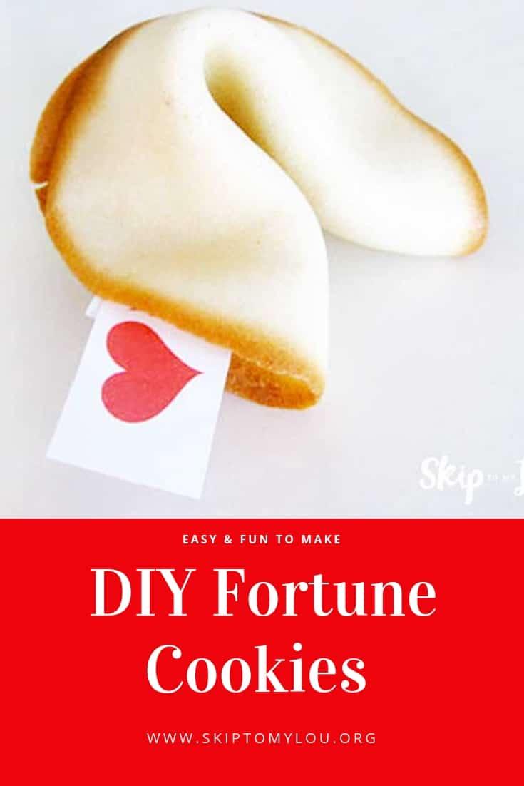 DIY Fortune Cookies Pinterest Graphic