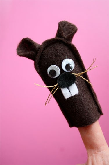Felt Groundhog Finger Puppet Skip To My Lou