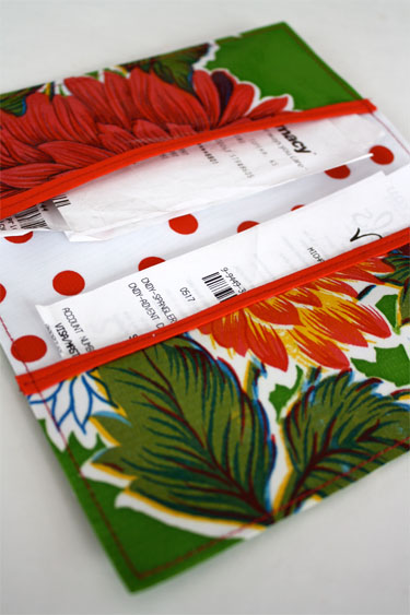 Oilcloth Receipt Wallet Skip To My Lou