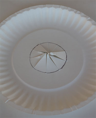 Cutting hole in the middle of a paper plate