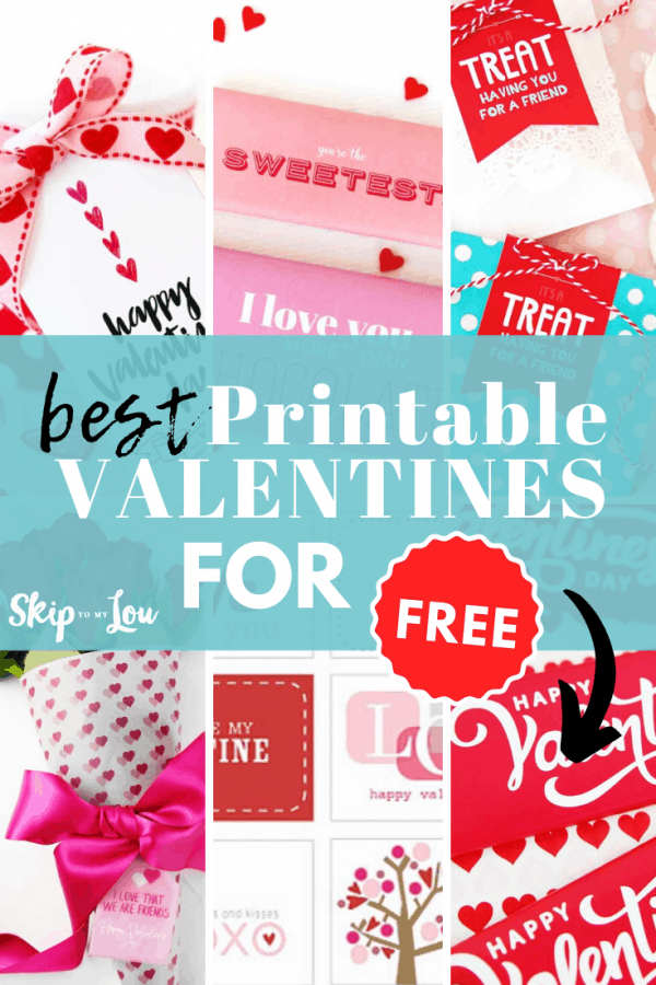 free printable valentines PIN